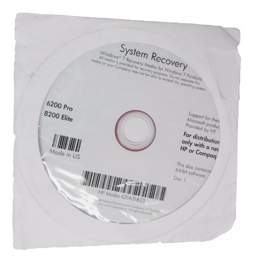 hp system recovery windows 7