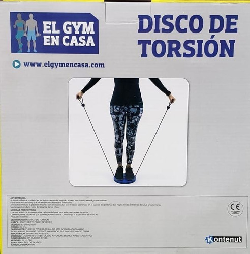 disco twister con bandas para modelar cintura fitness gym