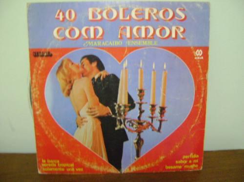 disco vinil antigo lp boleros com amor maracaibo ensemble