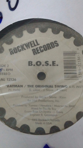 disco vinil b.o.s.e batman