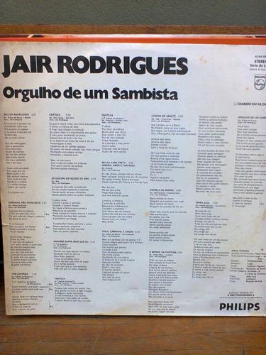 disco vinil jair rodrigues lp orgulho de um sambista