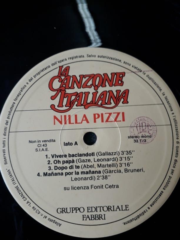 Disco Vinil La Canzone Italiana Nilla Pizzi