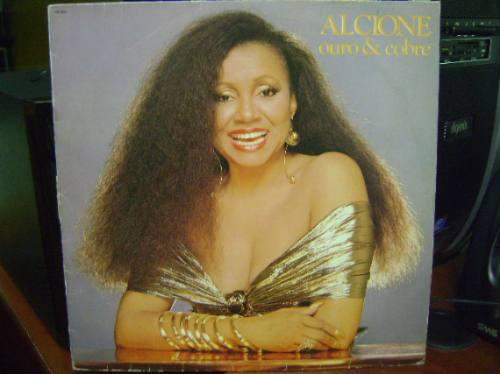 disco vinil lp alcione ouro e cobre 1988