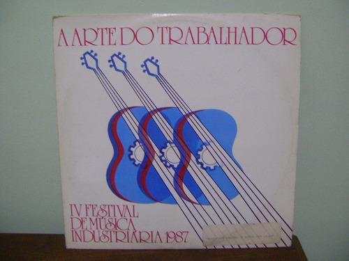 disco vinil lp arte do trabalhador festival música 1987 sesi