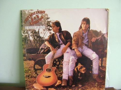 disco vinil lp chitãozinho xororó os meninos do brasil 1989