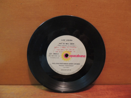 disco vinil lp compacto luiz vieira paz do meu amor