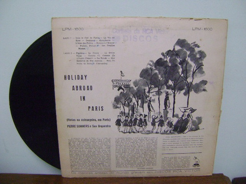 disco vinil lp holiday abroad in paris sabena pierre sommers
