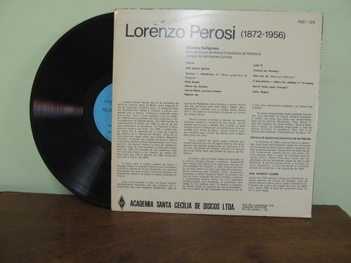 disco vinil lp lorenzo perosi música religiosa sacra coral