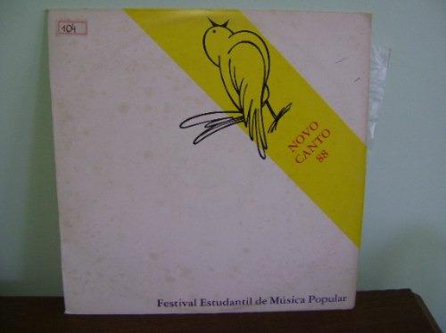 disco vinil lp novo canto festival estudantil aracaju 1988