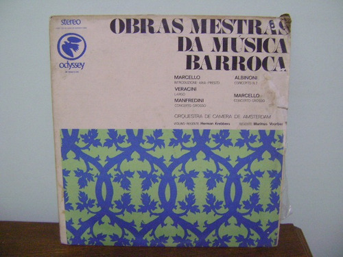 disco vinil lp obras mestras da músicas barroca 1970
