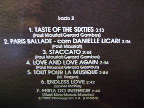 disco vinil lp paul mauriat vol 29 - 1982