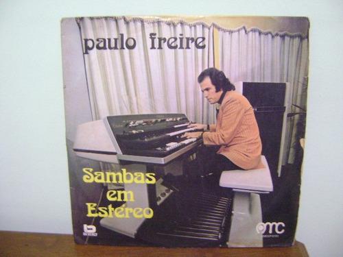 disco vinil lp paulo freire sambas em estéreo 1973