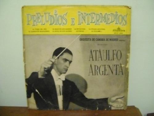 disco vinil lp prelúdios intermedios ataulfo argenta