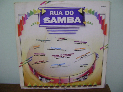 disco vinil lp rua do samba - 1985