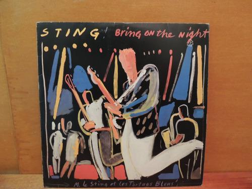 disco vinil lp sting bring on the night duplo