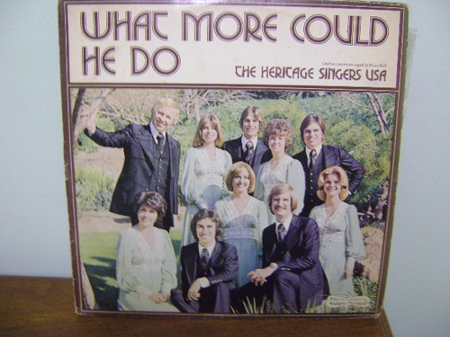 disco vinil lp what more could he do the heritage singers
