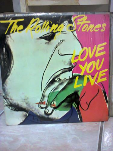 disco vinil the rolling stones love you live duplo  encarte