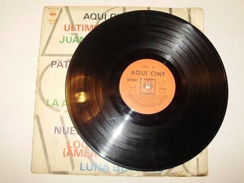 disco vinilo 12'' aqui cine vol 3 cbs urug 1974 banda sonora