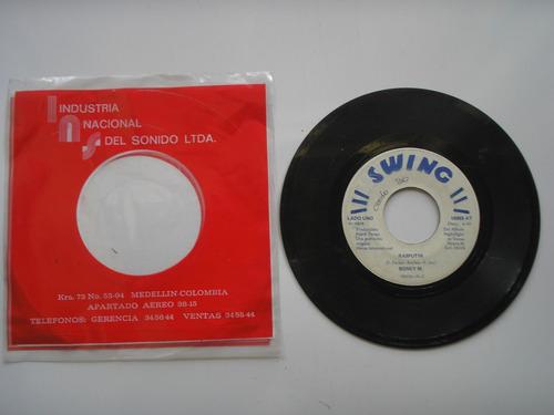 disco vinilo boney m rasputin  45rpm 1978