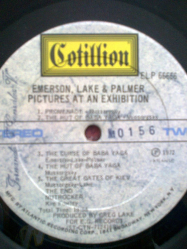 disco vinilo emerson like & palmer- pictures at exhibition