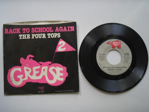 disco vinilo graease 2 the four tops 45rpm printed usa 1982