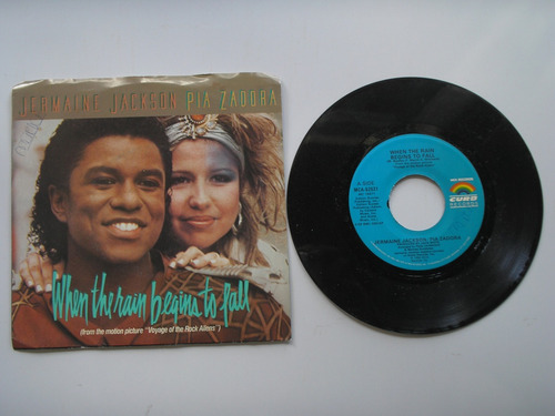 disco vinilo jermaine jackson pia zadora  45rpm pri usa 1984