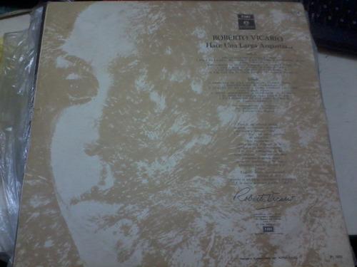 disco vinilo long play 5104 roberto vicario hace una larga