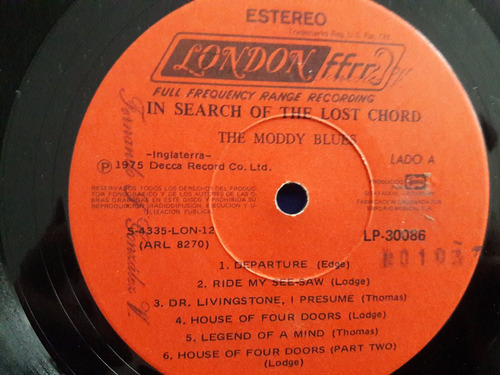 disco vinilo lp the moody blues - search of the lost chord