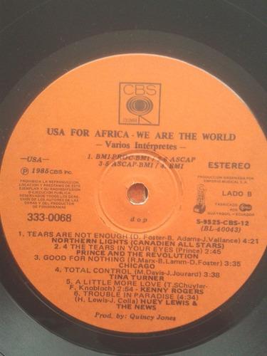 disco vinilo lp usa por africa - we are the world