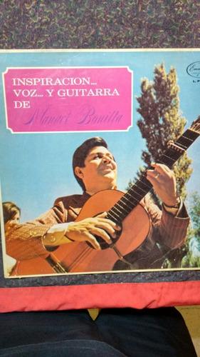 disco vinilo manuel bonilla - inspiración voz y guitarra