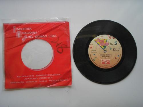 disco vinilo miguel mateus  es tanfacil romper un 45rpm 1989