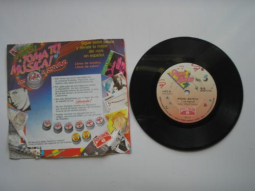 disco vinilo  miguel mateus zas atado a unsentimi 45rpm 1989