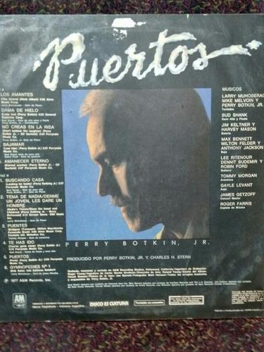 disco vinilo perry botkin jr. - puertos