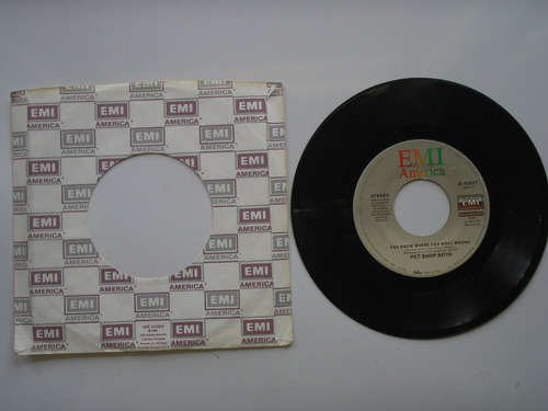 disco vinilo pet shop boys it,s a sin 45rpm 1987