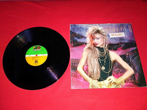 disco vinilo-stacey q. two of hearts maxi single,europeo