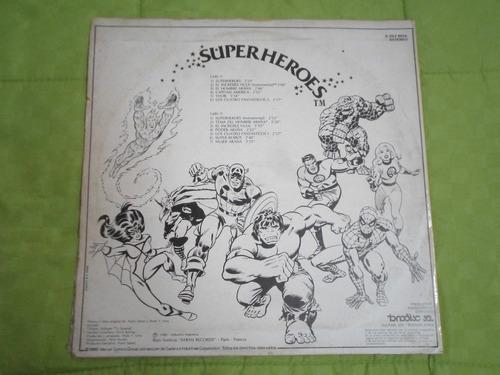 disco vinilo superheroes de la televisión 1980 ind arg