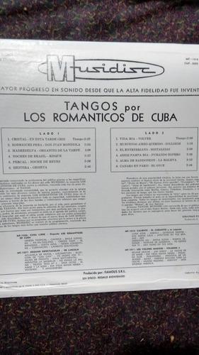 disco vinilo tangos por los romanticos de cuba