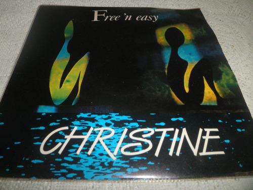 disco vinyl 45 rpm (7'') de christine - free 'n' easy (1985)