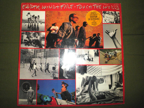 disco vinyl de earth, wind and fire - touch the world (1987)