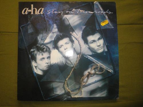 disco vinyl importado de a-ha - stay on these roads (1988)
