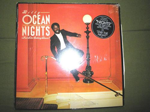 disco vinyl importado de billy ocean - nights (flgd) (1981)