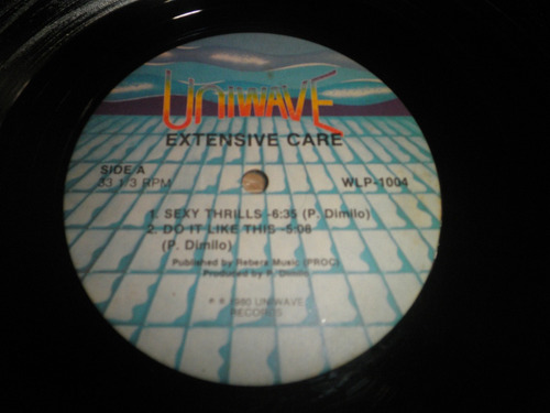 disco vinyl importado extensive care - sexy thrills (1980)