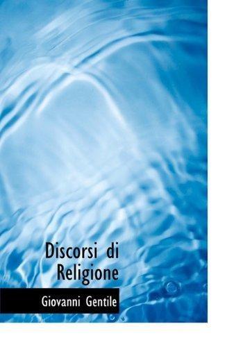 discorsi di religione : giovanni gentile