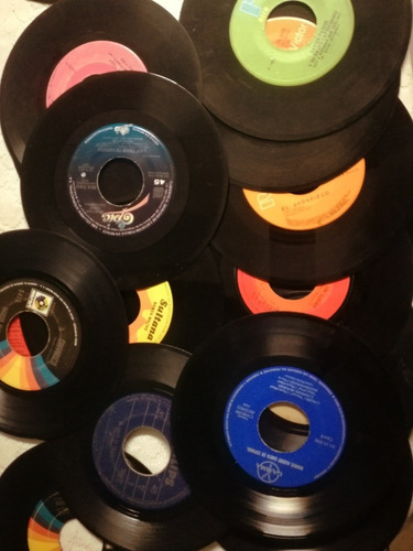 discos acetatos vinilos 7  reciclar manualidades
