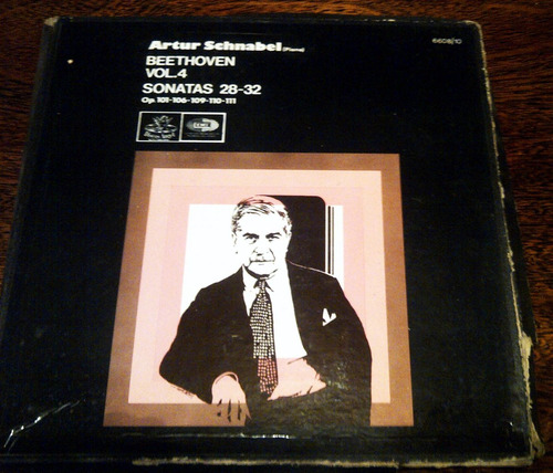 discos @ arthur schnabel beethoven vol. 4 sonatas de 28 a 32