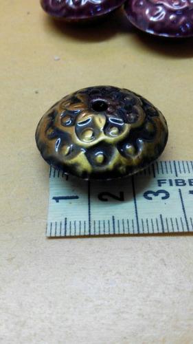 discos chatos metal liviano cobre bronce armar bijou 20 unid