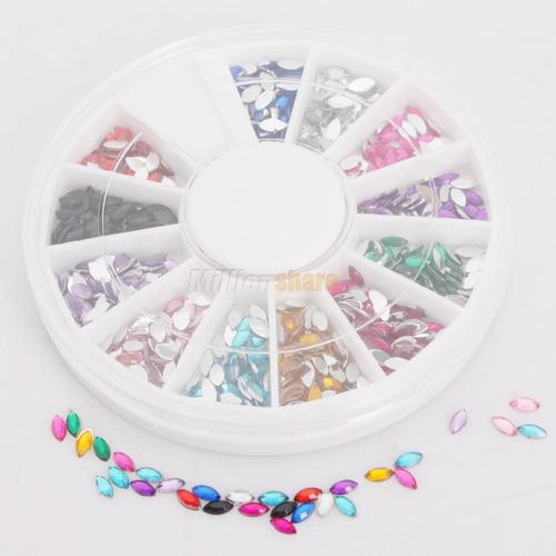 discos con piezas brillantes para decoracion de uñas