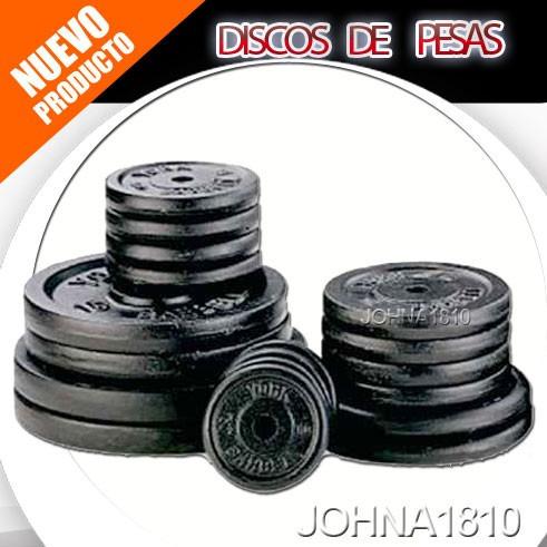discos de 10 lbs para mancuernas y pesas tamaño estandar