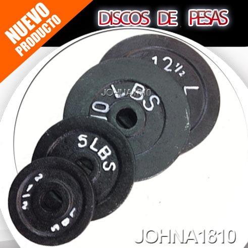 discos de 5 lbs para mancuernas y pesas tamaño estandar