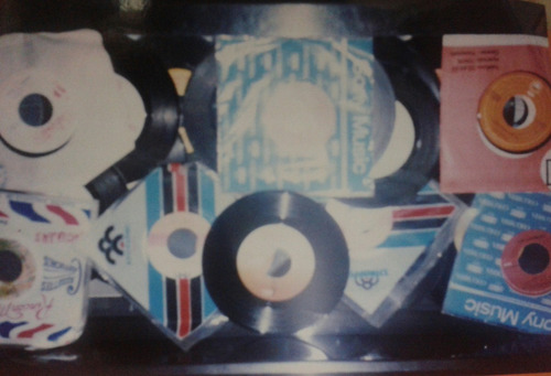 discos de acetato pequeños 45 rpm para decoracion